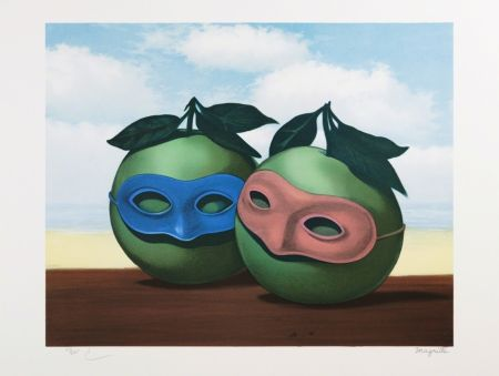 Lithographie Magritte - La Valse Hésitation