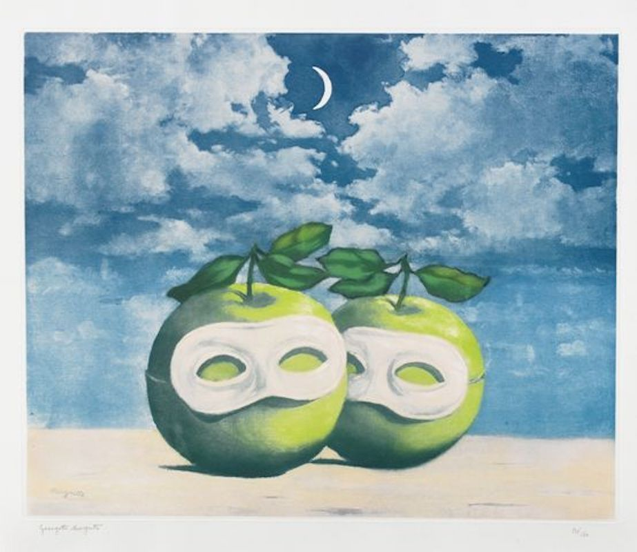 Eau-Forte Et Aquatinte Magritte - La Valse Hesitation