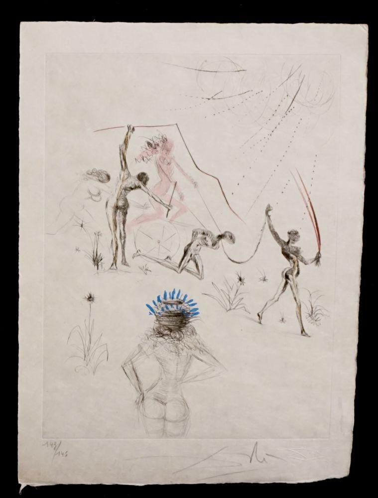 Gravure Dali - La Venus aux Fourrures The Negresses