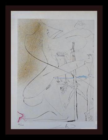 Gravure Dali - La Venus aux Fourrures Woman With Crutch