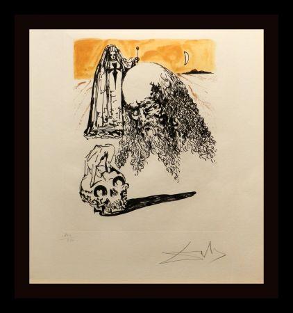 Gravure Dali - La Vida es Sueno Viellart Tete de Mort