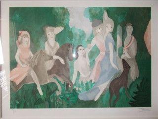 Lithographie Laurencin - La vie de chateau