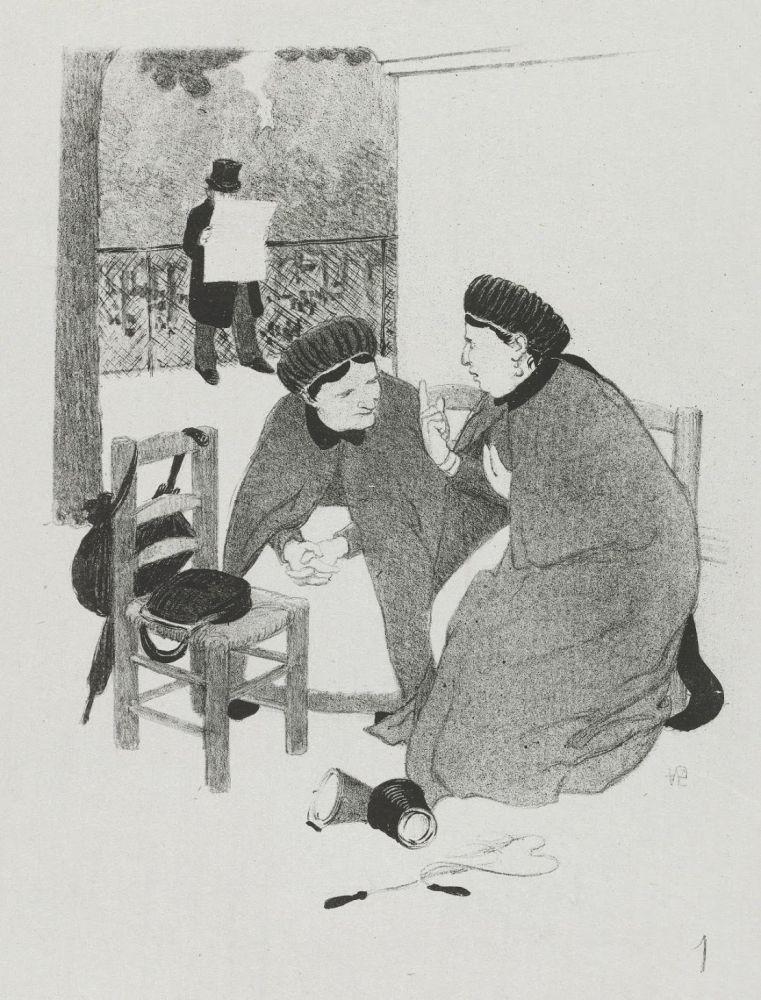 Lithographie Hermann-Paul - LA VIE DE MADAME QUELCONQUE en dix tableaux lithographiés par HERMANN-PAUL