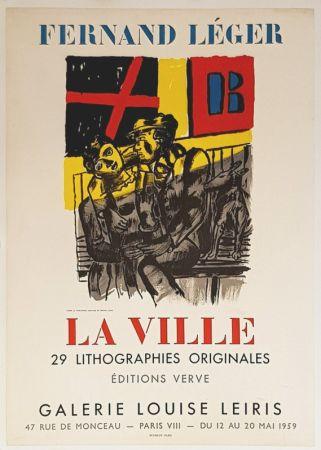 Lithographie Leger - La Ville  Galerie Louise Lieris
