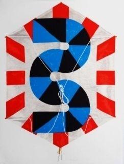 Lithographie Sugai - La vitesse du vent