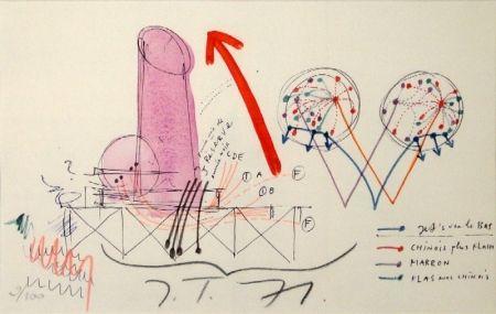 Lithographie Tinguely - La Vittoria.