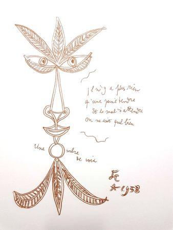 Lithographie Cocteau - La Voix