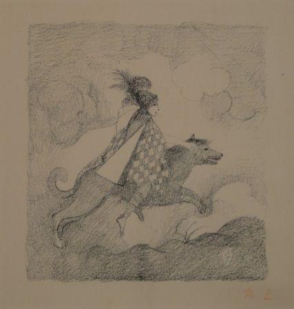 Lithographie Laurencin - La voyageuse