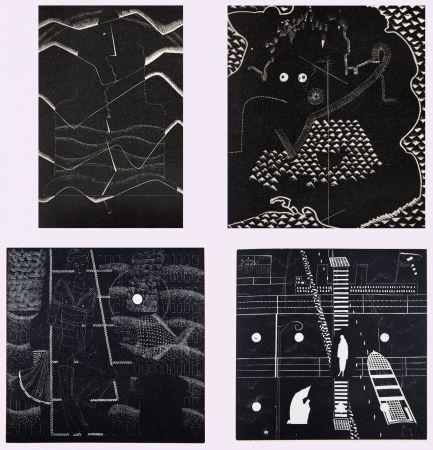 Livre Illustré Alexeïeff - L'ABBÉ DE L'ABBAYE. Poèmes supernaturalistes de Jean Genbach (1927)
