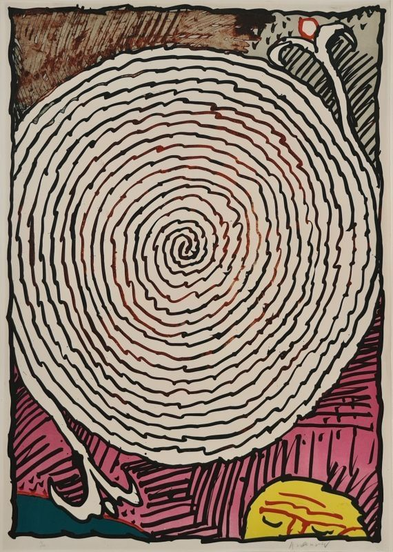 Lithographie Alechinsky - Labyrinthe d'apparat IV