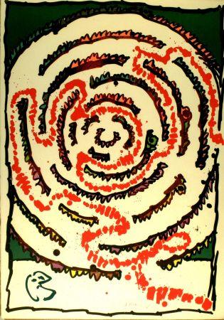 Lithographie Alechinsky - Labyrinthe d'apparat V