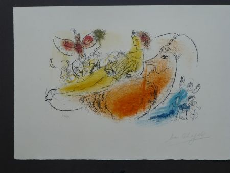 Lithographie Chagall - L'accordéoniste , 1957
