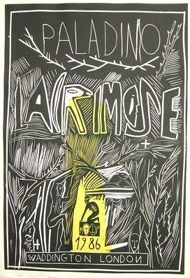 Gravure Sur Bois Paladino - Lacrimose
