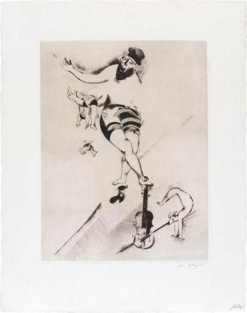 Eau-Forte Chagall - L'acrobate au violon