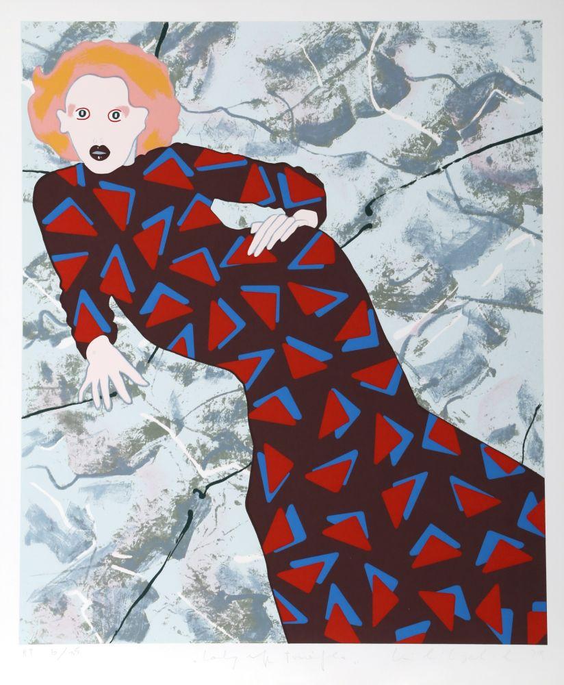 Sérigraphie Kogelnik - Lady and Triangles