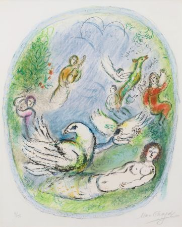 Lithographie Chagall - L'Age d'Or