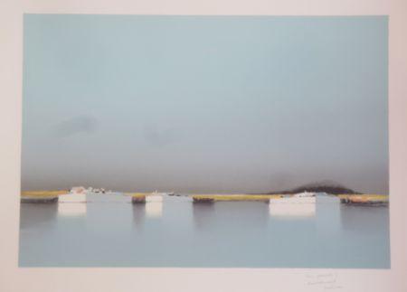 Lithographie Doutreleau - Lagune