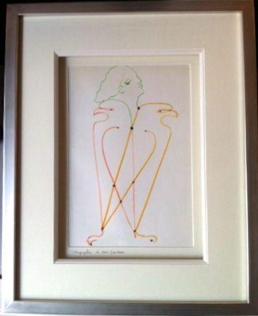 Lithographie Cocteau - L'aigle a 2 têtes