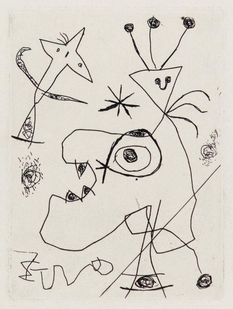 Gravure Miró - L'Aigrette