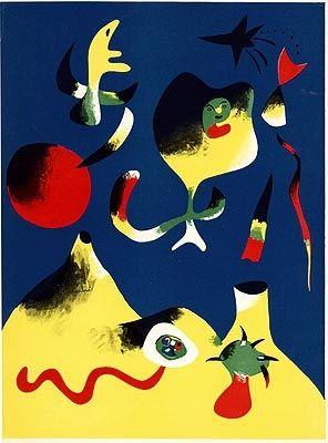 Lithographie Miró - L'air
