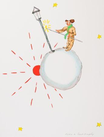 Lithographie Saint-Exupéry - L'allumeur de réverbères