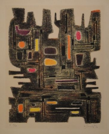 Lithographie Singier - L'Ancêtre