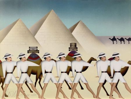 Lithographie Morris - LAND OF PHAROAHS