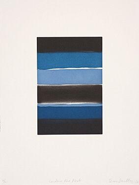 Eau-Forte Et Aquatinte Scully - Landline Blue Black