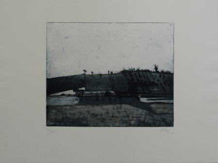 Eau-Forte Et Aquatinte Biederbick - Landschaft / Landscape