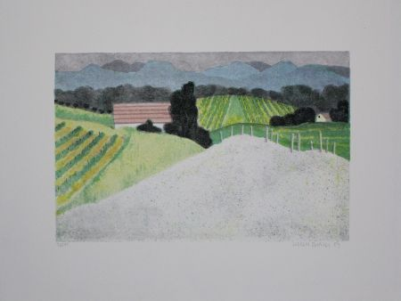 Lithographie Breiter - Landschaft / Landscape