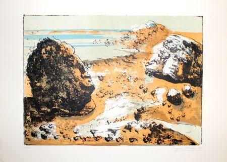Lithographie Berman - Landschaft / Landscape
