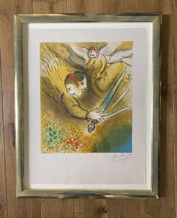Lithographie Chagall (After) -  L'ange du jugement
