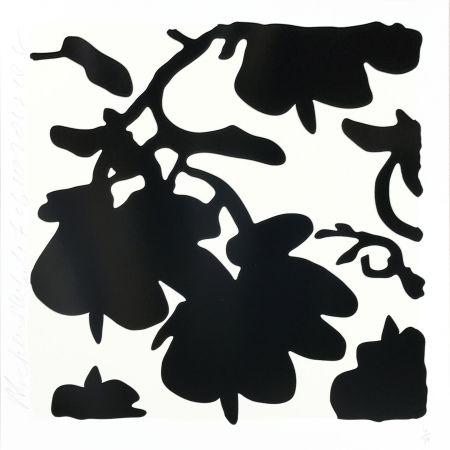Sérigraphie Sultan - Lantern Flowers (Black /white)