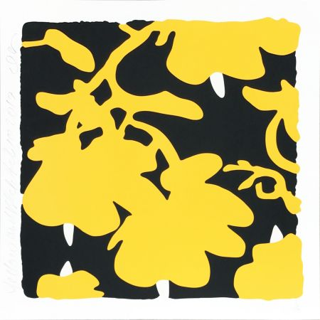 Sérigraphie Sultan - Lantern Flowers (Yellow/black)