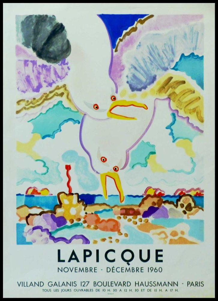 Affiche Lapicque - LAPICQUE GALERIE VILLAND GALANIS