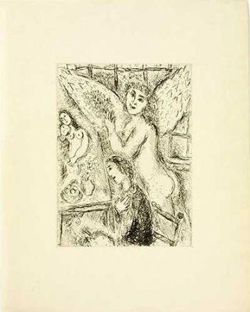 Gravure Chagall - L'apparition