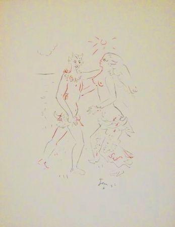Lithographie Cocteau - L'après-midi d'un faune (Debussy)