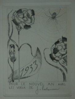 Pointe-Sèche Laboureur - L'Araignée aux fleurs