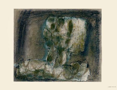 Lithographie Fautrier - L'Arbre vert