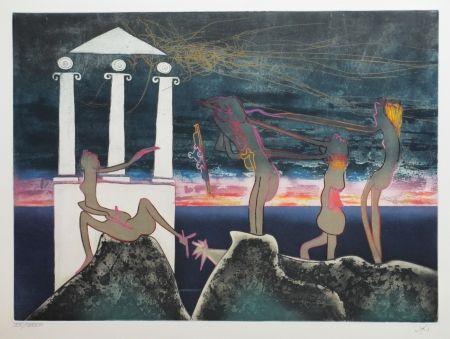 Eau-Forte Et Aquatinte Matta - L'Arc obscur des heures
