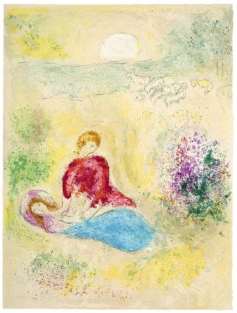 Lithographie Chagall - L'Arondelle (The Little Swallow from Daphnis & Chloé - 1961)