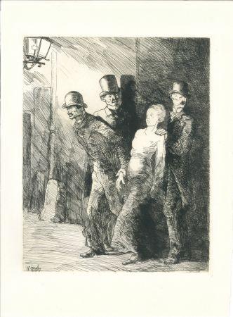 Gravure Naudin - L'arrestation