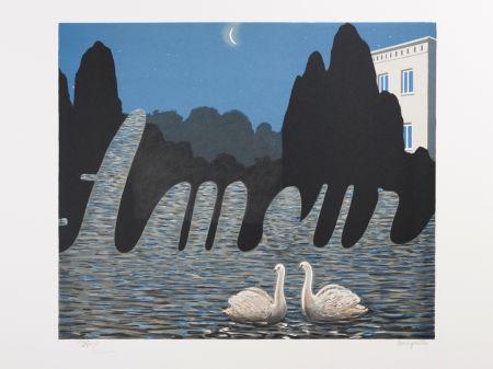 Lithographie Magritte - L'Art de la Conversation (The Art of Conversation)