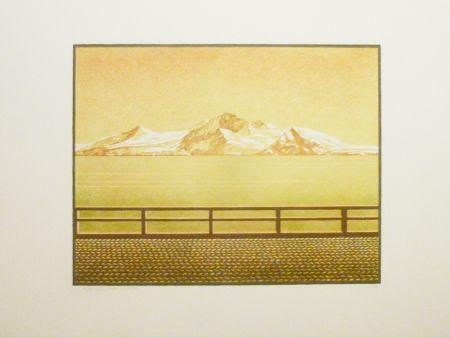 Lithographie Rodrigo - Las grandes montanas por las que el agua desciende