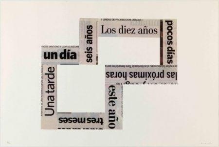 Lithographie Macchi - Las Horas