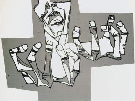 Gravure Guayasamin - Las manos de la ira