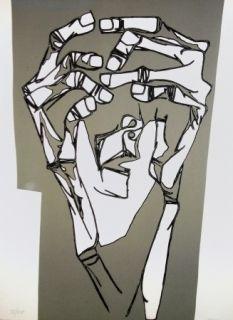 Gravure Guayasamin - Las manos del terror