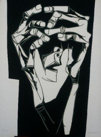 Gravure Guayasamin - Las manos del terror variante