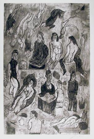Eau-Forte Et Aquatinte Cuevas - Las Victimas from the Intolerance Portfolio