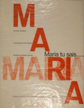 Livre Illustré Masson - LASSAIGNE, Jacques. Maria tu sais